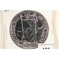 2014 GREAT BRITAIN SILVER BRITANNIA 2 POUND