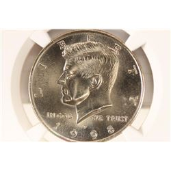 1998-P KENNEDY HALF DOLLAR NGC MS66