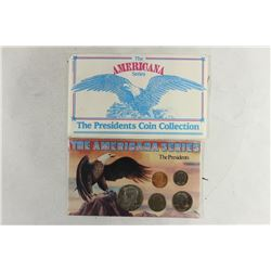 """THE AMERICANA SERIES """"THE PRESIDENTS"""" CONTAINS:"""