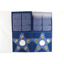 PARTIAL 2007 & 2008 US MINT ANNUAL UNC $ COIN SETS