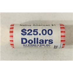 $25 ROLL OF 2011 NATIVE AMERICAN DOLLARS BRILLIANT