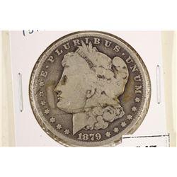 1879-O MORGAN SILVER DOLLAR BENT