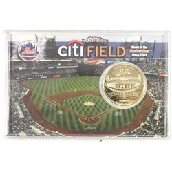 HOME OF THE METS LIMITED EDITION 24KT GOLD OVERLAY