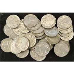 40 ASSORTED FULL DATE 1930'S BUFFALO NICKELS
