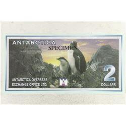 1999 ANTARCTICA SPECIMEN $2 WITH PENGUINS CRISP