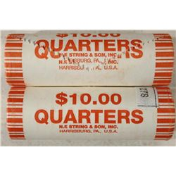 2-$10 ROLLS OF 2009-P GUAM QUARTERS BRILLIANT UNC