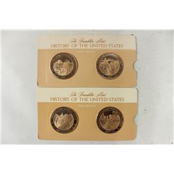 """4 ASSORTED 1 3/4"""" SOLID BRONZE FRANKLIN MINT"""