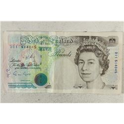1990 BANK OF ENGLAND FIVE POUND NOTE