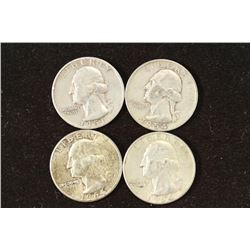1951,54 & 2-1964 WASHINGTON SILVER QUARTERS