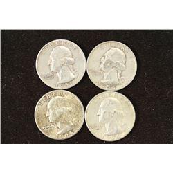 1951,54 & 2-1964 WASHINGTON SILVER QUARTERS