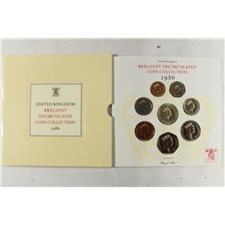 1986 UNITED KINGDOM BRILLIANT UNC COIN COLLECTION
