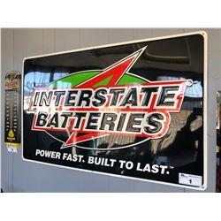METAL INTERSTATE BATTERIES SIGN - 48 X 30 INCH