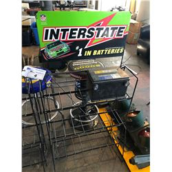 INTERSTATE BATTERIES BATTERY DISPLAY STAND WITH BATTERY