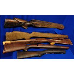 5 Wooden Gunstocks