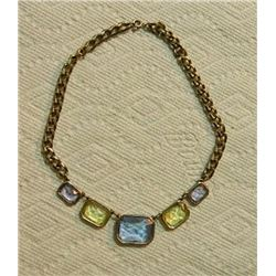 FROM ESTATE - NECKLACE - SAPPHIRE, CITRINE & AMETHYST COLOR GEMSTONES