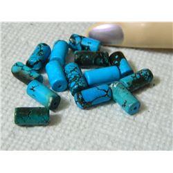 GEMSTONE BEADS - BLUE TURQUOISE 14.9 mm - 14pc