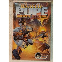 BATTLE POPE WRATH OF GOD #1 2002 - IN BAG WITH BOARD