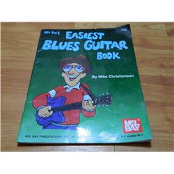 BOOK - MEL BAY'S EASIEST BLUES GUITAR BOOK