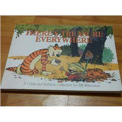 BOOK - THE CALVIN AND HOBBES - THERE'S TREASURE EVERYWHERE