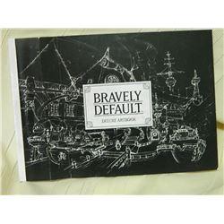 BRAVELY DEFAULT - DELUS ART BOOK - COVER HAS FOLDS