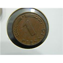 COIN - BUNDESREPUBLIK DEUTSCHLAND - 1 PFENNIG - 1950