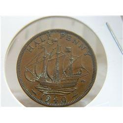 COIN - HALF PENNY - 1940