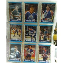 HOCKEY CARDS - SHEET OF 9 - EDMONTON OILERS