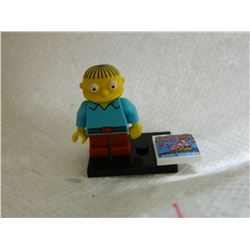 LEGO MINI FIGURE - BART SIMPSON FIGURE - WITH STAND & BOOK