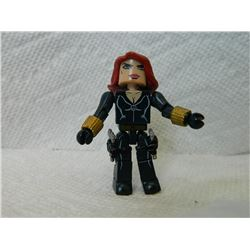 LEGO MINI FIGURE - BLACK WITH 2 GUNS & HOLSTERS