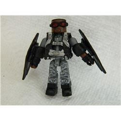 MINI FIGURE - BLACK - WITH POWER PACK & WINGS ON ARMS