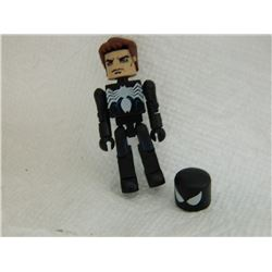 MINI FIGURE - BLACK SPIDERMAN - WITH EXTRA HAIR