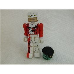 MINI FIGURE - RED & WHITE - WITH HEAD & HAIR