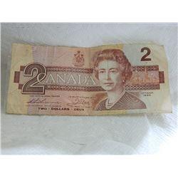 PAPER NOTE - CANADA - $2 - 1986