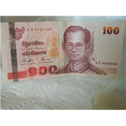 PAPER NOTE - THAILAND - 100 BAHT