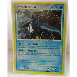 POKEMON COLLECTOR CARD IN PROTECTIVE SLEEVE - EMPOLEON LV.42 HOLO - 4/130