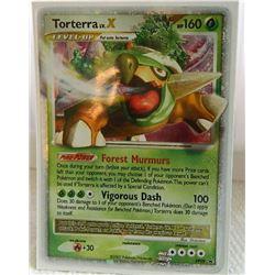 POKEMON COLLECTOR CARD IN PROTECTIVE SLEEVE - TORTERRA LV.X HOLO PROMO- DP09