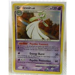POKEMON COLLECTOR CARD IN PROTECTIVE SLEEVE - GARDEVOIR LV.61 HOLO RARE - 8/127