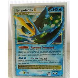 POKEMON COLLECTOR CARD IN PROTECTIVE SLEEVE - EMPOLEON LV.X HOLO - DP11