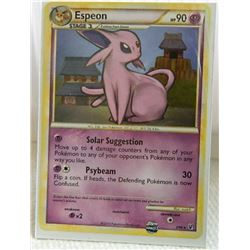 POKEMON COLLECTOR CARD IN PROTECTIVE SLEEVE - ESPEON STAGE 1 - 2/90