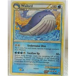 POKEMON COLLECTOR CARD IN PROTECTIVE SLEEVE - WAILORD STAGE 2 - 31/102