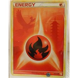 POKEMON COLLECTOR CARD IN PROTECTIVE SLEEVE - ENERGY - FIRE - COMMON - 116/123