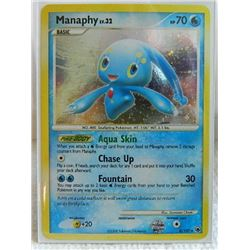 POKEMON COLLECTOR CARD IN PROTECTIVE SLEEVE - MANAPHY BASIC  HOLO - 9/100