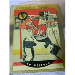 ROOKIE HOCKEY CARD - ED BELFOUR - PRO SET - #598 - CONDITION - NEAR MINT