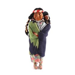 Original Early Pre-1940 Skookum Indian Doll
