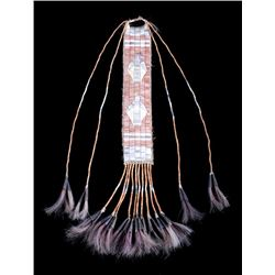 Sioux Fully Quilled Hair Drop 19th Century