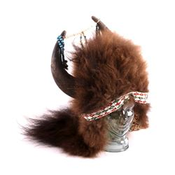 Plains Native American Indian Buffalo Headdress