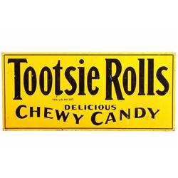 Original Tootsie Rolls Advertising Sign 1920-1930