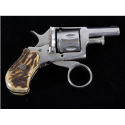 German Proofed Ring Trigger Nickel & Stag Revolver