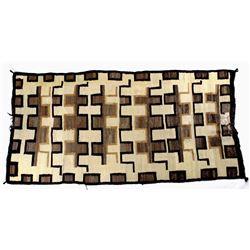 Navajo Old Crystal Eye Dazzler Wool Trade Rug