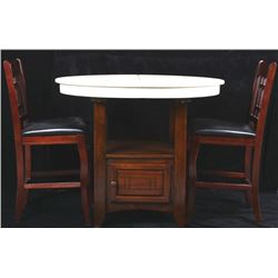 Coaster Transitional Round Dining Table and Chairs